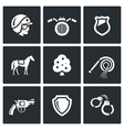 Set of Street Police Icons vector image vector image