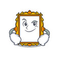 smirking picture frame character cartoon vector image vector image