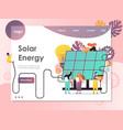solar energy website landing page design vector image