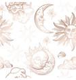 starry night sky trendy seamless pattern vintage vector image vector image