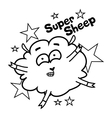 Super sheep vector image