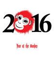 the year monkey chinese symbol calendar vector image vector image