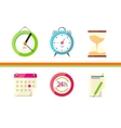 Time Design Flat Concept Clock and Calendar vector image vector image