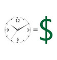 time is money icons vector image vector image