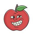 trolling meme red apple cartoon apple vector image vector image