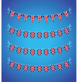 uk bunting vector image vector image