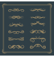 Vintage retro calligraphic design elements scroll