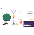 wifi wireless network landing page template vector image