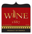 Wine label design vector image vector image