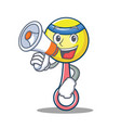 with megaphone rattle toy character cartoon vector image vector image