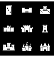 white castle icon set vector image