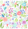 Seamless Floral colorful hand drawn pattern vector image