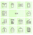14 box icons vector image vector image