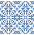 abstract seamless blue geometry pattern for vector image vector image