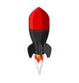 air bomb isolated fighting rocket on white vector image