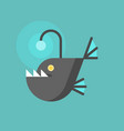 angler fish icon flat design trap concept vector image vector image