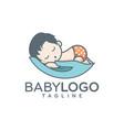 baby logo design stock