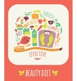 Beauty Diet vector image