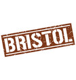 bristol brown square stamp vector image vector image