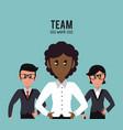 business teamwork cartoon vector image