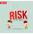 Businessman run away from risk burden vector image vector image
