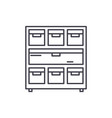 cabinet with documents line icon concept cabinet vector image vector image