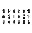 cactus icon set simple style vector image vector image