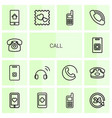 call icons vector image vector image