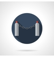 Chain fencing round flat icon vector image
