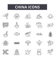 china line icons for web and mobile design vector image vector image