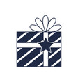 christmas gift box isolated icon vector image