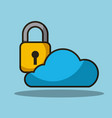 cloud data security backup system information vector image vector image