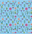 colorful pattern with little flowers vector image vector image