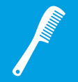 comb icon white vector image