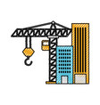construction building tower crane equipment vector image
