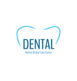 dental health clinic concept logo template vector image
