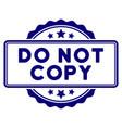 do not copy text seal template vector image