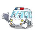 doctor ambulance character cartoon style vector image
