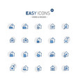 easy icons 03f home vector image vector image