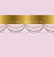 elegant pastel rose garland festive pattern vector image vector image