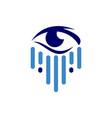 eye logo concept icon vector image vector image