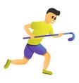 field hockey player icon cartoon style vector image vector image
