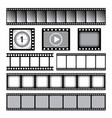 film strip cinema or photo tape movie 35mm strip vector image