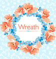 Floral wreath with flowers vector image vector image