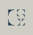 g letter logo architecture emblem vector image vector image
