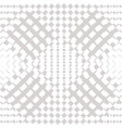 geometric checkered seamless white pattern vector image vector image