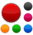 Glossy round award buttons vector image vector image
