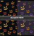 halloween seamless pattern with scary stare vector image vector image