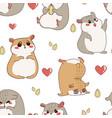 hamster pattern cartoon seamless texture vector image vector image