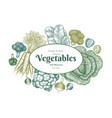 hand drawn sketch vegetables design organic fresh vector image vector image